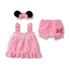 ชุดเดรสกางเกง-Minnie-Mouse-สีชมพู-(9-size/pack)