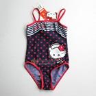 ชุดว่ายน้ำลายจุด-Hello-Kitty-สีน้ำเงิน(5-ตัว/pack)