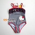 ชุดว่ายน้ำลายขวาง-Hello-Kitty-สีกรม-(4-ตัว/pack)