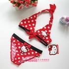 บิกินนี่ลายจุด-Hello-Kitty-สีแดง-(5-ตัว/pack)