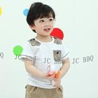 เสื้อยืดแขนสั้นหนุ่มอังกฤษ-สีขาว-(5size/pack)