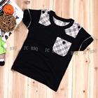 เสื้อยืดแขนสั้นหนุ่มอังกฤษ-สีดำ-(5size/pack)