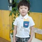 เสื้อยืดเด็กแขนสั้นเฟรนฟราย-สีขาว-(5size/pack)
