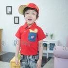 เสื้อยืดเด็กแขนสั้นเฟรนฟราย-สีแดง-(5size/pack)