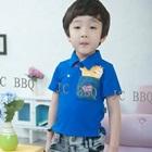 เสื้อยืดเด็กแขนสั้นเฟรนฟราย-สีน้ำเงิน-(5size/pack)