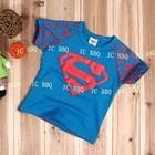 เสื้อยืดเด็กแขนสั้น-Superman-สีน้ำเงิน-(5size/pack