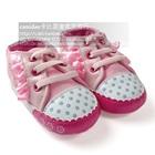 รองเท้าผ้าใบเด็กดอกไม้เล็ก-สีชมพู-(6-คู่/แพ็ค)