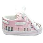รองเท้าผ้าใบเด็กลายตาราง-สีชมพู-(6-คู่/แพ็ค)
