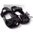 รองเท้าเด็กผูกโบว์-สีดำ-(6-คู่/แพ็ค)