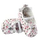 รองเท้าเด็กดอกไม้หัวใจ-สีขาว(6-คู่/แพ็ค)