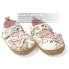 รองเท้าเด็กผีเสื้อแสนหวาน-สีขาว(6-คู่/แพ็ค)