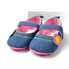รองเท้าเด็กดอกไม้ดอกใหญ่-สีน้ำเงิน-(6-คู่/แพ็ค)
