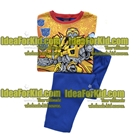 เสื้อและกางเกง-Robot-โทนสีฟ้า-(4size/pack)