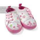 รองเท้าผ้าใบเด็กดอกไม้ใสๆ-สีขาว-(6-คู่/แพ็ค)