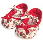 รองเท้าเด็กดอกไม้หัวใจ-สีขาวแดง-(6-คู่/แพ็ค)