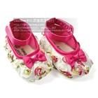 รองเท้าเด็กดอกกุหลาบ-สีขาว(6-คู่/แพ็ค)