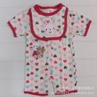 บอดี้สูทหัวใจกระต่ายน้อย-สีชมพู-(5-size/pack)