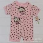 บอดี้สูทหัวใจลิงน้อย-สีชมพู-(5-size/pack)