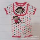 บอดี้สูท-Lovely-Monkey-สีขาวชมพู-(5-size/pack)