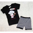 ชุดเสื้อกางเกงพ่อครัวหัวป่า-สีดำ-(5-size/pack)