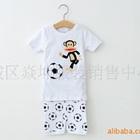 ชุดเสื้อกางเกงลิงเตะฟุตบอล-สีขาว-(5-size/pack)
