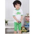 ชุดเสื้อกางเกงเต่าน้อย-สีขาวเขียว--(5-size/pack)
