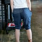 กางเกงขาสามส่วน-สีน้ำเงิน-(5-ตัว/pack)