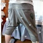 กางเกงขาสามส่วนหัวใจเล็ก-สีเทา-(5-ตัว/pack)