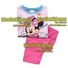 เสื้อและกางเกง-Minnie-Mouse-สีชมพู-(3size/pack)