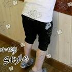 กางเกงขาสามส่วนหัวใจเล็ก-สีดำ-(5-ตัว/pack)