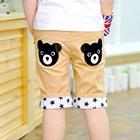 กางเกงขาสามส่วนหมีน้อย-สี-Apricot-(4-ตัว/pack)