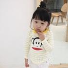 เสื้อเด็กแขนยาวลิงยิ้มแย้ม-สีเหลือง-(5size/pack)