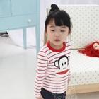 เสื้อเด็กแขนยาวลิงยิ้มแย้ม-สีแดง-(5size/pack)