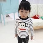 เสื้อเด็กแขนยาวลิงยิ้มแย้ม-สีดำ-(5size/pack)