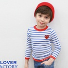 เสื้อเด็กแขนยาวลายขวาง-สีฟ้าขาว-(5size/pack)