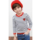 เสื้อเด็กแขนยาวลายขวาง-สีดำขาว-(5size/pack)
