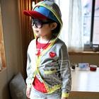 เสื้อแจ็กเก็ตแขนยาวหัวใจเล็ก-สีเทา-(5-ตัว/pack)