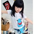 เสื้อยืดเด็กแขนสั้นฉลามน้อย-สีขาว-(5size/pack)