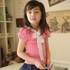 เสื้อเด็กแขนสั้นลายจุด-สีชมพู-(5size/pack)
