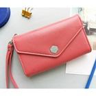 กระเป๋าแฟชั่นสำหรับใส่ไอโฟน-สีชมพู-(5-ใบ/pack)