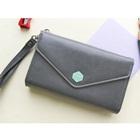 กระเป๋าแฟชั่นสำหรับใส่ไอโฟน-สีเงิน-(5-ใบ/pack)