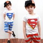 ชุดเสื้อกางเกงเด็ก-Superman-คละสี-(10-ตัว/pack)