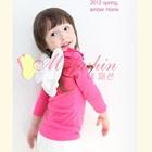 เสื้อแขนยาวผีเสื้อ-สีชมพูเข้ม-(5size/pack)