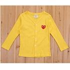เสื้อคาร์ดิแกนแขนยาวหัวใจเล็กสีเหลือง-(4-ตัว/pack)