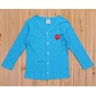 เสื้อคาร์ดิแกนแขนยาวหัวใจเล็กสีฟ้า-(4-ตัว/pack)