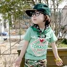 เสื้อยืดแขนสั้น-Tobasgo-สีเขียว-(5size/pack)