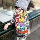 เสื้อแขนยาวลายขวาง-Smile-สีดำ-(5size/pack)