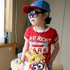 เสื้อยืดแขนสั้น-Vest-Pocket-สีแดง-(5size/pack)