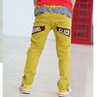 กางเกงขายาว-Jean-Click-สีเหลือง-(4-ตัว/pack)