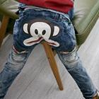 กางเกงยีนส์ขายาวลิงยิ้มแย้มสีน้ำเงิน-(4-ตัว/pack)